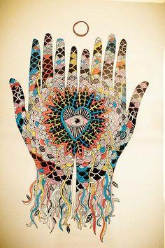 Love hands #visionaryart #art #beautiful #visual #trippy #psychedelic #sacred