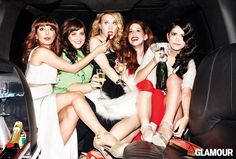 Nasim Pedrad, Aidy Bryant, Kate McKinnon, Vanessa Bayer, and Cecily Strong for Glamour
