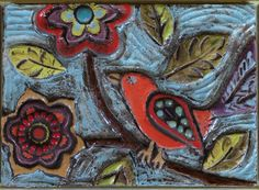 回  Tile o Phile  回   clay bird tile