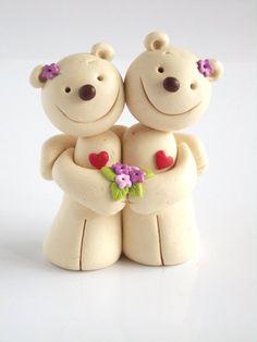 friend forev, bear heart, hands, clay miniatur, friendship quot