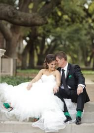 This bride and groom look so lucky in love! Photo by Perez Photography #wedding #cute #texas #couple #bride #groom
