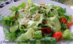 Cilantro pumpkin seed salad dressing
