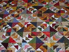frugal scrappy flying geese quilt--I LOVE this pattern.
