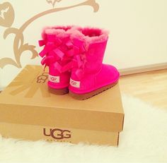 Pink Uggs #shoes #boots
