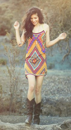 ☯☮ॐ American Hippie Bohemian Style ~ Boho Tribal Summer Slip Dress!