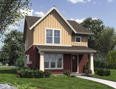 The Florette House Plan from The House Designers is a lovely 1,636 Sq. Ft, home featuring rare amenities for a narrow home such as a walk-in pantry and office space. To see the actual floor plans for this home, click here: http://www.thehousedesigners.com/plan/florette-4362/