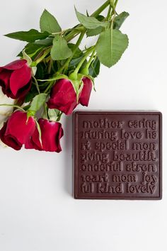 Mother's Day Block - loving words about Mom molded in chocolate