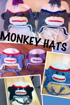 baby  adult hats by craftycrochet11 on Etsy,