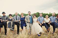 blue farm wedding blue