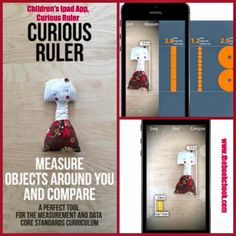 """Children's iPad App, Curious Ruler - $Au1.29/$US0.99.  """"With Curious Ruler, children can explore and measure objects around them and learn about sizes, units of measure, and proportions. Simply pick a known reference object in Curious Ruler, place it side-by-side next to the object you want to measure and snap a photo."""" http://www.thebookchook.com/2014/07/childrens-ipad-app-curious-ruler.html"""