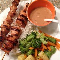 peanut sauc, tomato sauce, grilled chicken, dipping sauces, chicken kabob