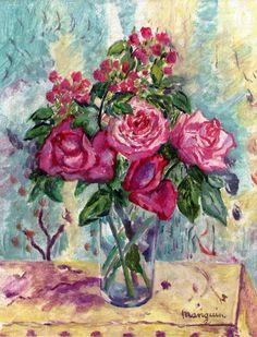 Small Vase of Roses Henri Manguin - 1940