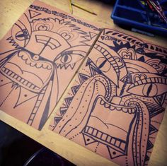 Art Projects for Kids: Tiki Faces