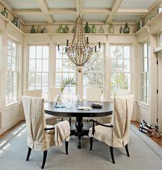 Coastal breakfast room -ceiling and cornice