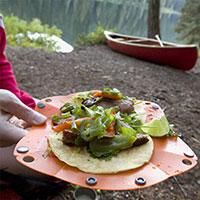 Roughing it doesn't have to mean giving up tasty food. Camp tacos anyone?