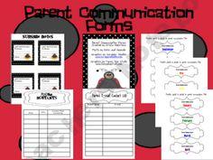 Parent Communication Form - freebie