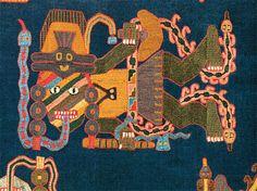 Pre-Columbian Paracas textile detail, Peru