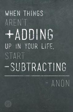 Subtracting.