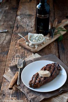 steak at home grill steak beef steaks beer marinated steak gorgonzola ...