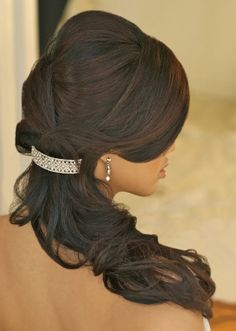 Elegant formal event hair