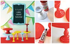 the Creative Orchard: DIY CAKE STANDS - Top 12 Tutorials! I want to make them all!