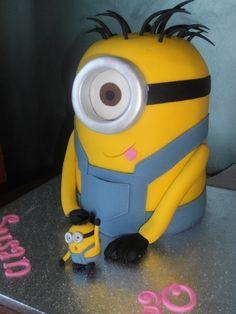 minions, idea, food, minion cakes, despic, sponge cake, cake pans, birthday cake, parti