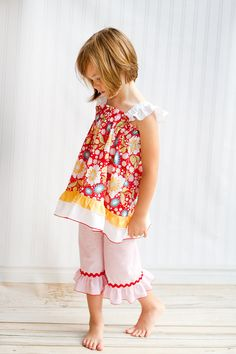 Apple of My Eye Summer Top and Pants  Size 3m6 by KinderKouture, $55.00