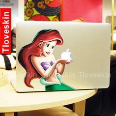 Disney Ariel Little Mermaid Decal for Macbook Pro, Air or Ipad Stickers Macbook Decals Apple Decal for Macbook Pro / Macbook Air 13125 on Wanelo