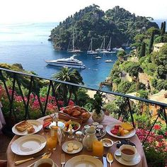 Breakfast in Greece.