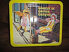 1982 Aladdin Ronald McDonald Metal Lunchbox w/Thermos