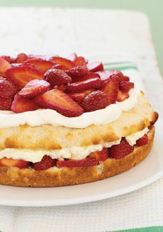 Simply Sensational Strawberry Shortcake — Fresh strawberries and a creamy pudding filling make this one of the best strawberry shortcakes you'll ever have!