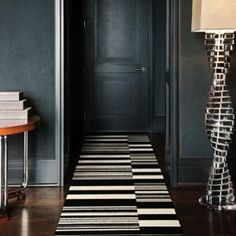 Matte walls & graphic rug