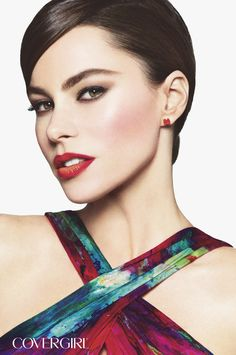 Get COVERGIRL Sofia Vergara's bold look with Blast Flipstick Lipcolor in Stunner. http://www.covergirl.com/beauty-products/lip-color/lipstick/blast-flipstick-lipcolor