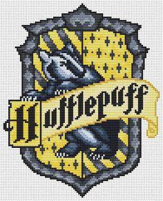 Hufflepuff cross stitch