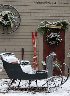 holiday, wagon wheels, winter, aiken hous, sleigh rides, snow, country christmas, christmas ideas, outdoor christmas