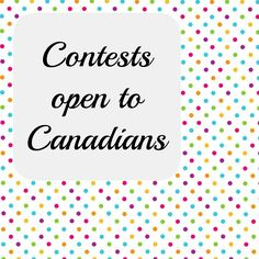 Contests open to Canadians Cover
