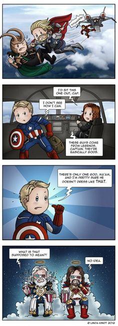 Avengers scene illustrated