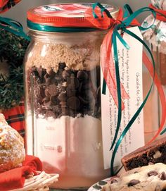 Homemade Holiday Gift Jars holiday, jar recipes, chocolate chips, chocol chip, chip cooki, cooki mix, gift idea, jars, christma
