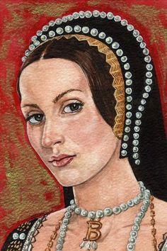 The Portrait in my dining corner :-) Anne Boleyn by Mark Satchwill