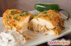 Jalapeno Popper Stuffed Chicken Breasts Recipe via @SparkPeople