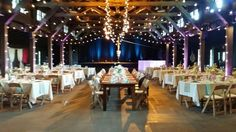 Lighting from Something New Entertainment and rentals from Miller's Party Rental and Borrow Vintage Rental at Happy Days Lodge #hitched