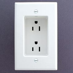 If you ever build or remodel - use recessed outlets so that the plugs dont stick out from the wall. This allows furniture to be flat against the wall.
