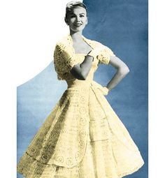 Vintage Crochet Pattern 1950s Full Circle Skirt by 2ndlookvintage, $4.50