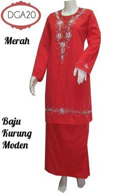 Baju Kurung Moden Cotton Vietnam Bersulam Manik DGA20 Baju Kurung ...