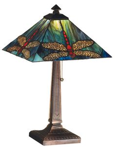 Mission-style lamp.