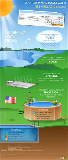 Interesting swimming pool trivia facts that I never knew. Cool