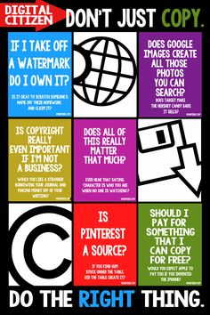 copyright - idea to work with, teaching to think what it would be if you weren't using the internet