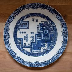 8-bit gameboy plates    Visit the artist at http://ollymoss.com/