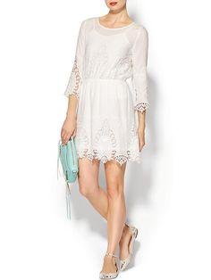 Ark & Co. Embroidered Eyelet Dress - White