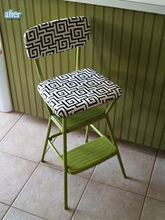 turn those plain metal step stools into cuteness